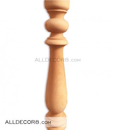 پایه نرده مدل جامی ساده چوب راش گرد