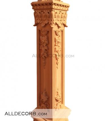 ایستگاه نرده مدل سلطنتی چوب راش