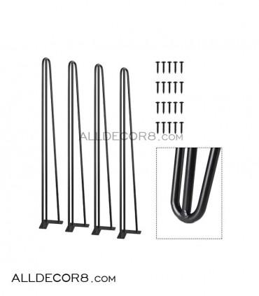 پایه فلزی میز مدل سنجاقی hair pin leg 80cm