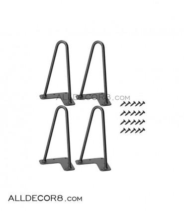 پایه فلزی میز مدل سنجاقی  - Hairpin leg 20 cm
