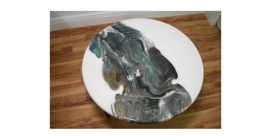 ساخت میز عسلی با استفاده از رزین اپوکسی (epoxy)
