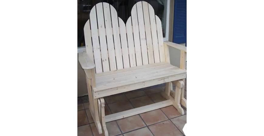 صندلی دو نفره چوبی